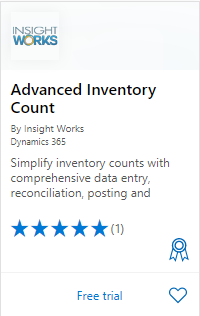 Advanced Inventory Count on AppSource