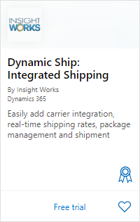 Dynamic Ship on AppSource