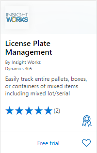 License Plate Management on AppSource
