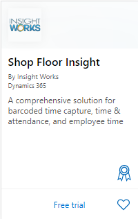 Shop Floor Insight on AppSource
