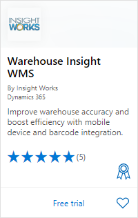 Warehouse Insight on AppSource