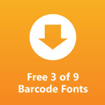 3 of 9 Barcode Fonts