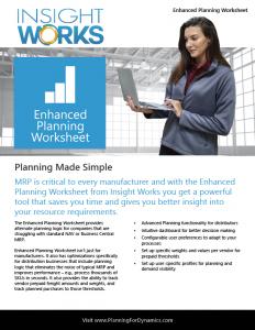 Enhanced Planning Worksheet