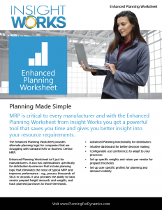 Enhanced Planning Worksheet