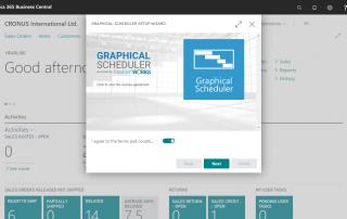 Graphical Scheduler Setup Wizard