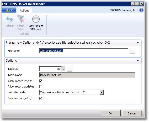 NAV 2013 Universal XMLport