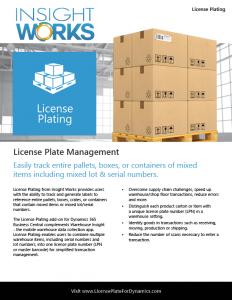 License Plating