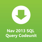 NAV 2013 SQL Query Codeunit