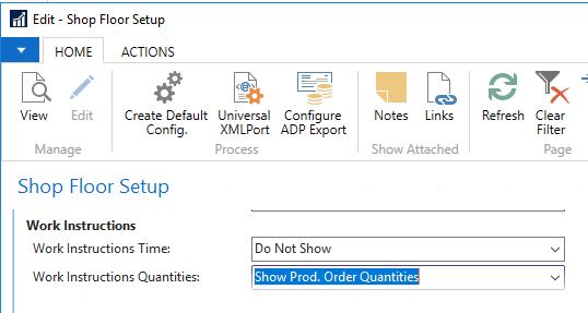 Work Instructions Quantities