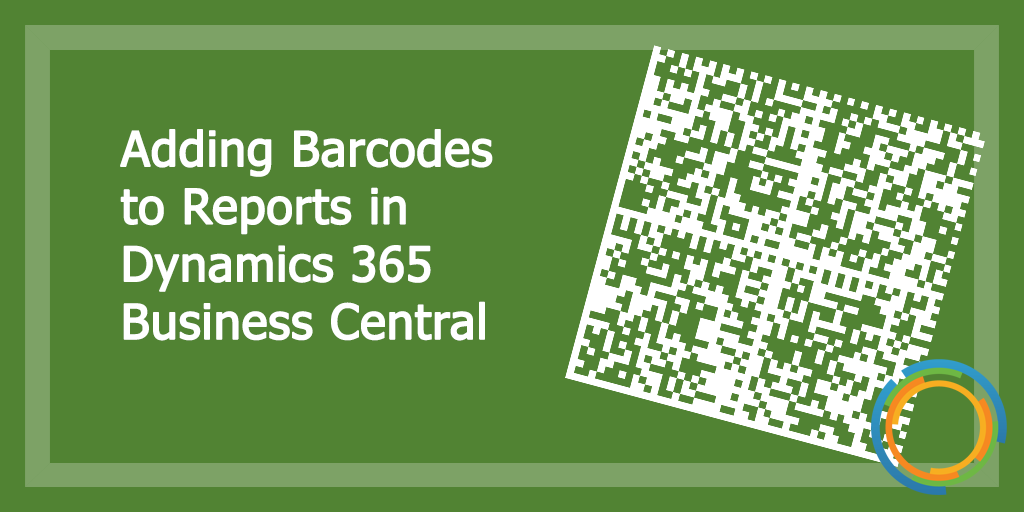 Adding Barcodes to Reports